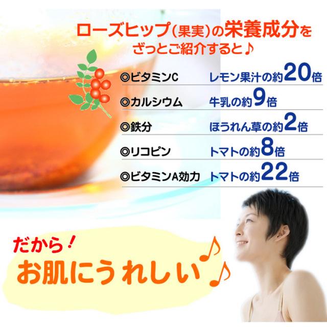 ローズヒップ お肌にうれしい栄養成分